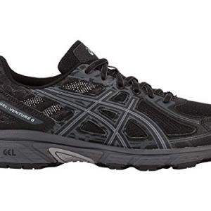 ASICS Men's Gel-Venture 6 Running Shoe, Black/Phantom/Mid Grey