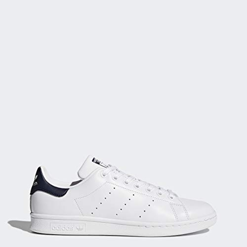 adidas Originals Men's Stan Smith Leather Sneaker, White Running White