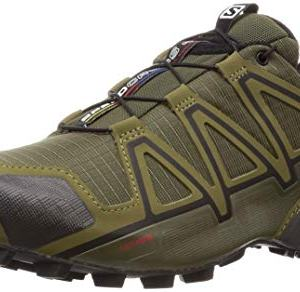 Salomon Men's Speedcross 4 Trail Running Shoes, Grape Leaf/Burnt Olive/Black