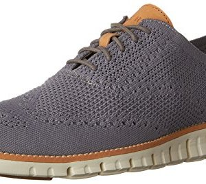 Cole Haan Men's Zerogrand Stitchlite Wingtip Oxford, Ironstone/Ivory