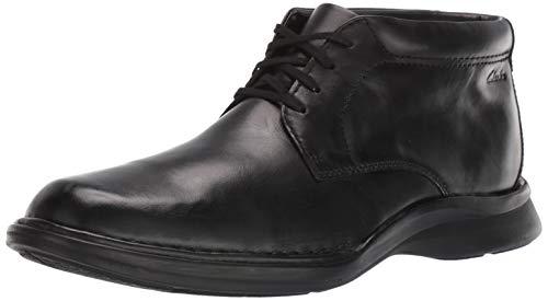 Clarks Men's Kempton Mid Ankle Boot, Black Leather