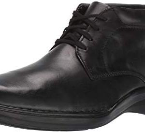 Clarks Men's Kempton Mid Ankle Boot, Black Leather