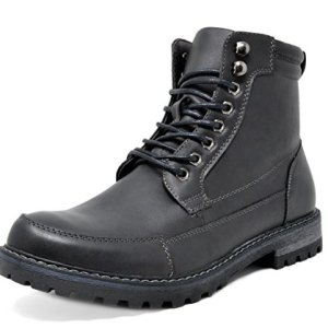 Bruno Marc Men's Engle-01 Black Motorcycle Combat Oxford Boots