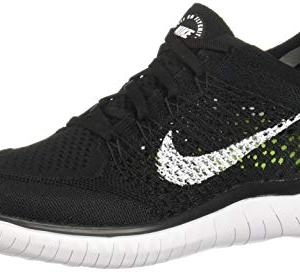 Nike Free RN Flyknit 2018 Black/White Men's Running Shoes