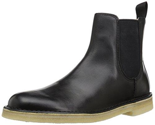 Clarks Men's Desert Peak Chelsea Boot, Black Leather