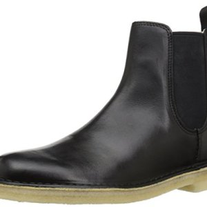 Clarks Men's Desert Peak Chelsea Boot, Black Leather