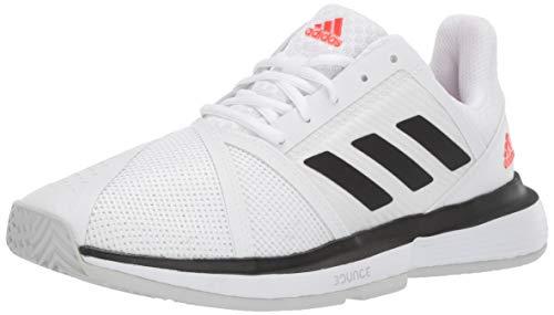 adidas Men's CourtJam Bounce Tennis Shoe, White/Black/Light Grey Heather
