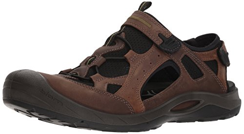 ECCO Men's Biom Delta Fisherman Sandal, Coffee