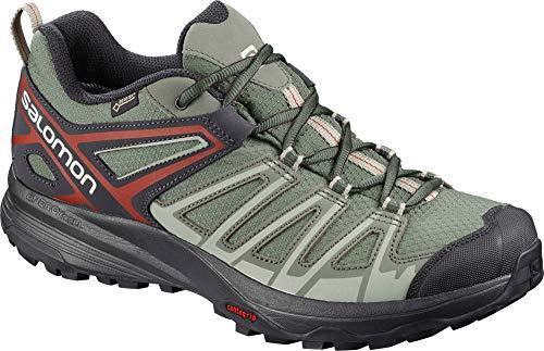 Salomon Men's X Crest GTX Hiking Shoes, Castor Gray/SHADOW/Bossa Nova