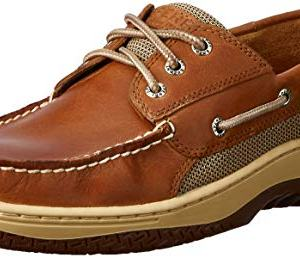 Sperry Mens Billfish 3-Eye Boat Shoe, Dark Tan