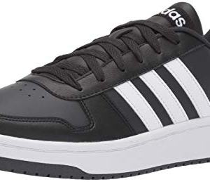 adidas Men's Hoops 2.0 Sneaker, Black