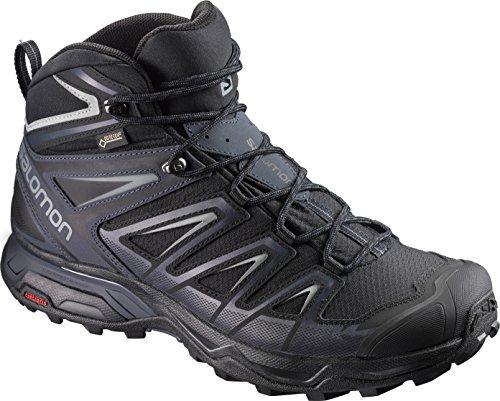 Salomon Men's X Ultra 3 Mid GTX Hiking Boots, Black/India Ink/Monument