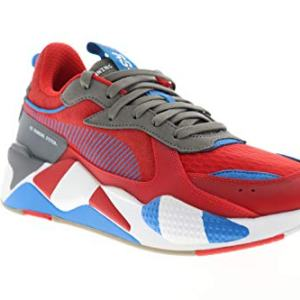 PUMA Men's RS-X Sneaker, High Risk red-Steel Gray-Indigo Bunting
