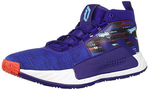 adidas Men's Dame 5 Basketball Shoe, Purple/Collegiate Royal/White