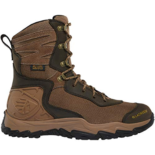 """Lacrosse Men's Windrose 8"""" Waterproof Hunting Boot, Brown"""