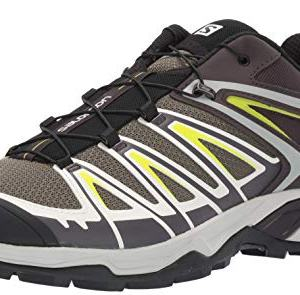 Salomon Men's X Ultra 3 Hiking Shoes, Burnt Olive/SHALE/Acid Lime
