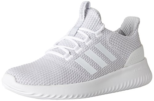 adidas Men's Cloudfoam Ultimate Running Shoe, White/White/Grey