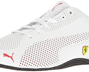 PUMA Men's SF Drift Cat 5 Ultra Walking Shoe, White-Rosso Corsa Black