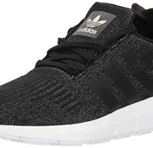 adidas Originals Women's Swift W Running-Shoes,core black/core black/white