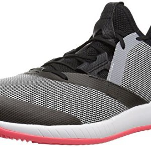 adidas Men's Adizero Defiant Bounce Tennis Shoe, Black/White/Flash red
