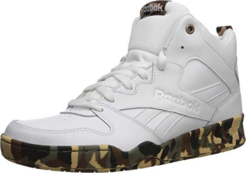 Reebok Men's Royal HI2 Basketball Shoe, White/White/camo