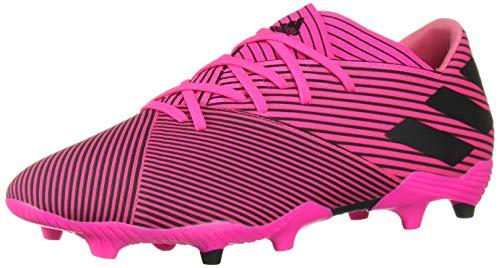 adidas Men's Nemeziz 19.2 Firm Ground Soccer Shoe, Shock Pink/Black/Shock Pink