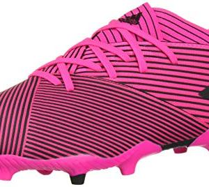 adidas Men's Nemeziz 19.2 Firm Ground Soccer Shoe, Shock Pink/Black/Shock Pink