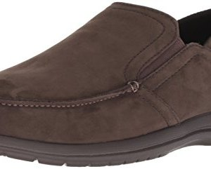 Crocs Men's Santa Cruz Convertible Leather Slip-On Loafer Flat, Espresso/Espresso