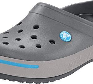 Crocs Men's Crocband II Clog,Charcoal/Light Grey