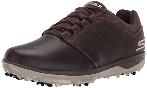 Skechers Men's Pro 4 Waterproof Golf Shoe, Chocolate