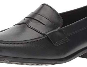 Rockport Men's Classic Lite Penny Loafer, Black/Black