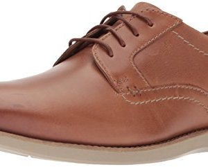 Clarks Men's Raharto Plain Oxford, Dark tan Leather