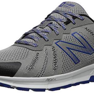 New Balance Men's FuelCore Trail Running Shoe, rain Cloud/Team Royal/Black