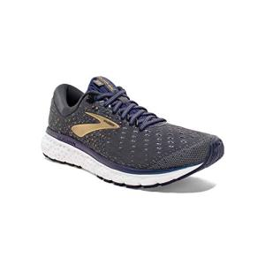 Brooks Mens Glycerin 17 Running Shoe - Grey/Navy/Gold