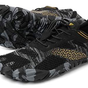 WHITIN Men's Cross-Trainer   Barefoot & Minimalist Shoe   Zero Drop   Wide Toe Box   Five Fingers   Gym Fitness Workout Trail Running   Male Black   Size 10