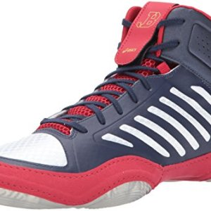 ASICS Men's JB Elite III Wrestling Shoe, Indigo Blue/White/Classic Red