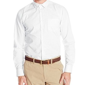 IZOD Uniform Men's Young Long Sleeve Button-Down Oxford Shirt