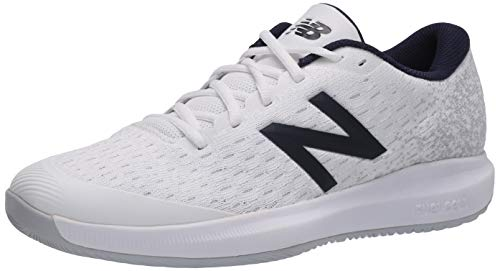 New Balance Men's Hard Court Tennis Shoe, White/Grey