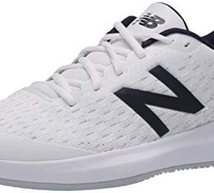 New Balance Men's Hard Court Tennis Shoe, White/Grey