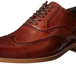 STACY ADAMS Men's Dunbar-Wingtip Oxford, Cognac