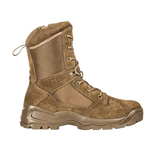 "5.11 Men's ATAC 2.0 8"" Tactical Side Zip Military Boot, Style, Dark Coyote"