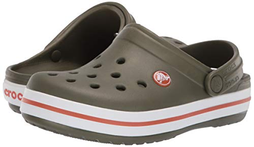 Crocs Kids' Crocband Clog, army green/burnt sienna
