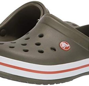 Crocs Kids' Crocband Clog, army green/burnt sienna