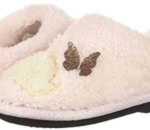 Dearfoams Girls' Kid's Whimsical Clog Slipper, Fresh Pink