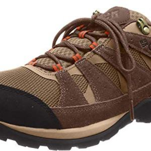 Columbia Men's Redmond V2 Waterproof Hiking Shoe, Pebble, Desert Sun, 13 Wide US