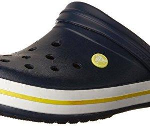 Crocs Unisex Crocband Clog, Navy/Citrus