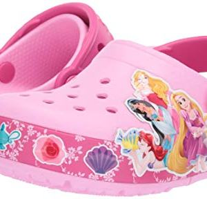 Crocs Kids' Fun Lab Princess Band Light-Up Clog, Carnation, 1 M US Little Kid