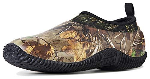 TENGTA Unisex Waterproof Rain Shoes Men Neoprene Rubber Yard Work Boots