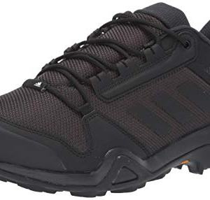 adidas outdoor Men's Terrex AX3 Hiking Boot, Black/Black/Carbon, 8 M US