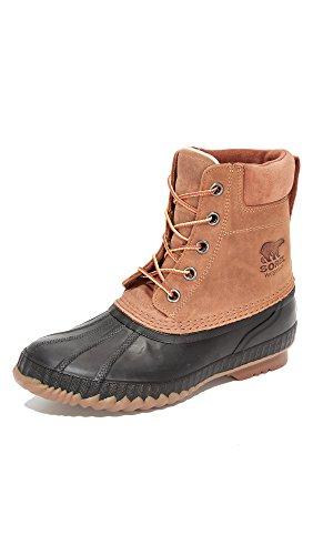 Sorel Men's Cheyanne II Snow Boot, Chipmunk, Black